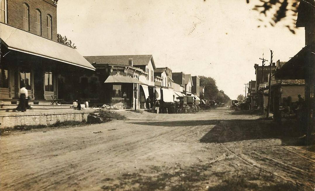 Old picture of Port Byron, IL